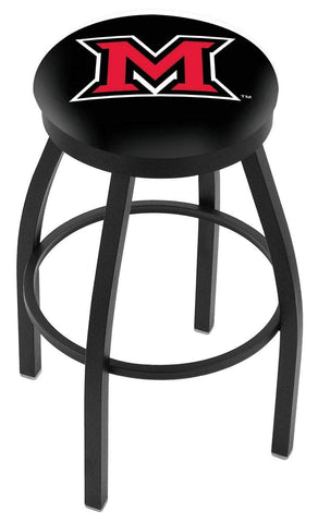 Miami University Redhawks HBS Black Swivel Bar Stool with Cushion