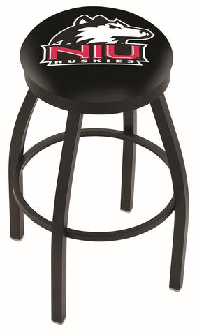 Shop Northern Illinois Huskies HBS Black Swivel Bar Stool with Cushion - Sporting Up