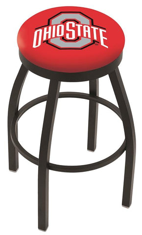 Shop Ohio State Buckeyes HBS Black Swivel Bar Stool with Red Cushion