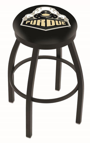 Purdue Boilermakers HBS Black Swivel Bar Stool with Cushion