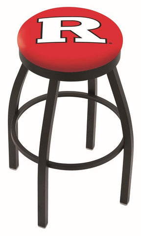 Rutgers Scarlet Knights HBS Black Swivel Bar Stool with Red Cushion