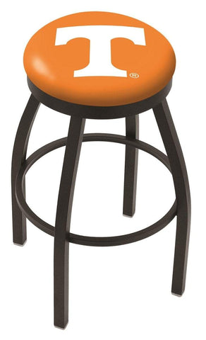 Tennessee Volunteers HBS Black Swivel Bar Stool with Orange Cushion