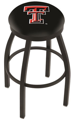 Texas Tech Red Raiders HBS Black Swivel Bar Stool with Cushion