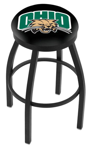 Ohio Bobcats HBS Black Swivel Bar Stool with Cushion