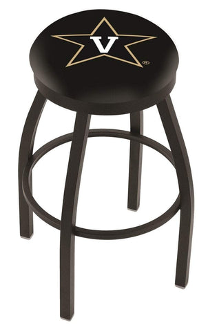 Vanderbilt Commodores HBS Black Swivel Bar Stool with Cushion
