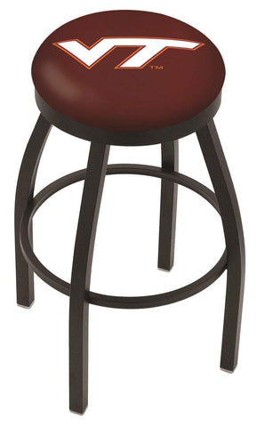 Virginia Tech Hokies HBS Black Swivel Bar Stool with Maroon Cushion
