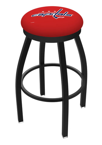 Washington Capitals HBS Black Swivel Bar Stool with Red Cushion