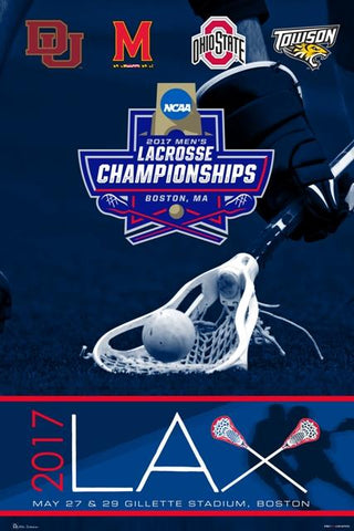 Shop 2017 LAX NCAA Lacrosse National Championship Final 4 Teams Poster Print (24x36)
