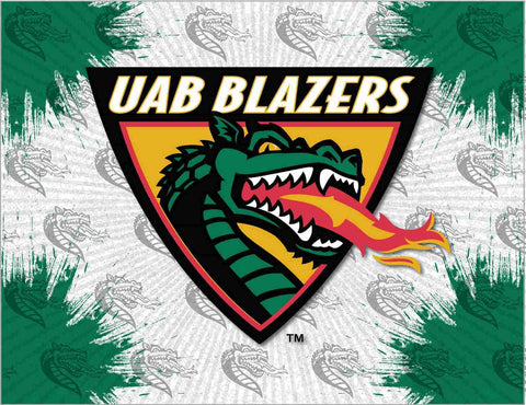 UAB Blazers HBS Gray Green Wall Canvas Art Picture Print