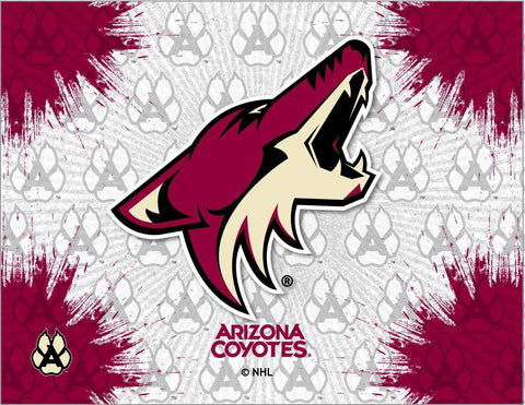 Arizona Coyotes HBS Gray Red Hockey Wall Canvas Art Picture Print
