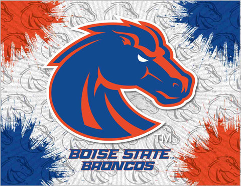 Boise State Broncos HBS Gray Orange Navy Wall Canvas Art Picture Print