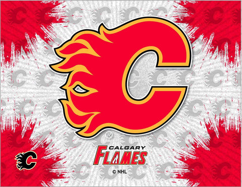 Calgary Flames HBS Gray Red Hockey Wall Canvas Art Picture Print