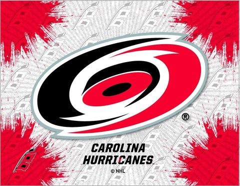 Carolina Hurricanes HBS Gray Red Hockey Wall Canvas Art Picture Print