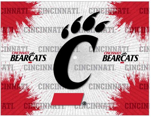 Cincinnati Bearcats HBS Gray Red Wall Canvas Art Picture Print