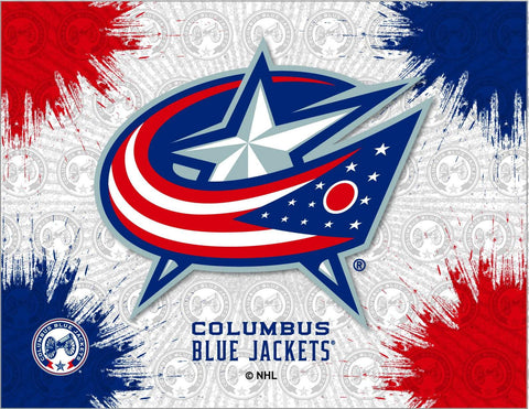 Columbus Blue Jackets HBS Gray Navy Hockey Wall Canvas Art Picture Print