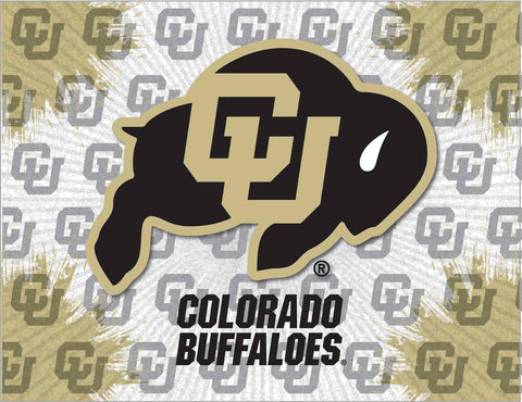 Colorado Buffaloes HBS Gray Gold Wall Canvas Art Picture Print