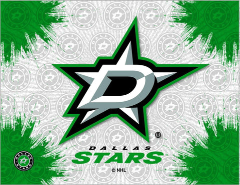 Dallas Stars HBS Gray Green Hockey Wall Canvas Art Picture Print