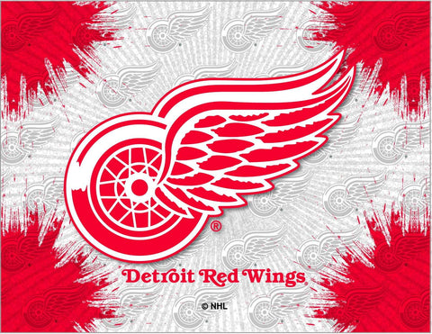 Detroit Red Wings HBS Gray Red Hockey Wall Canvas Art Picture Print