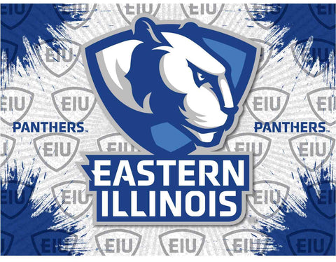 Eastern Illinois Panthers HBS Gray Blue Wall Canvas Art Picture Print