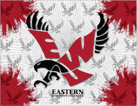 Eastern Washington Eagles HBS Gray Red Wall Canvas Art Picture Print