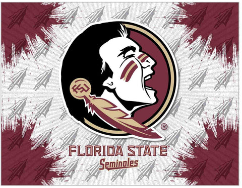 Florida State Seminoles HBS Gray Head Wall Canvas Art Picture Print