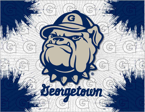 Georgetown Hoyas HBS Gray Navy Wall Canvas Art Picture Print