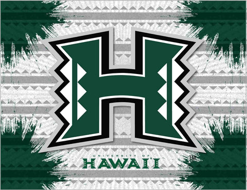 Hawaii Warriors HBS Gray Green Wall Canvas Art Picture Print