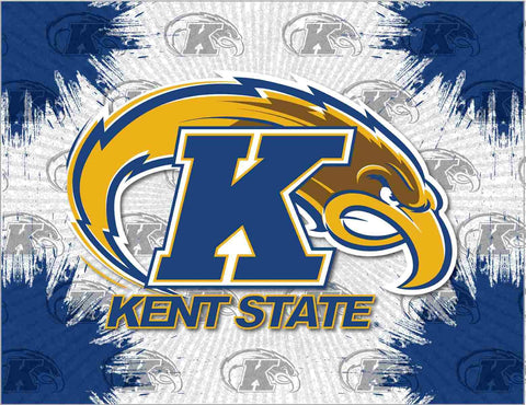 Kent State Golden Flashes HBS Gray Blue Wall Canvas Art Picture Print