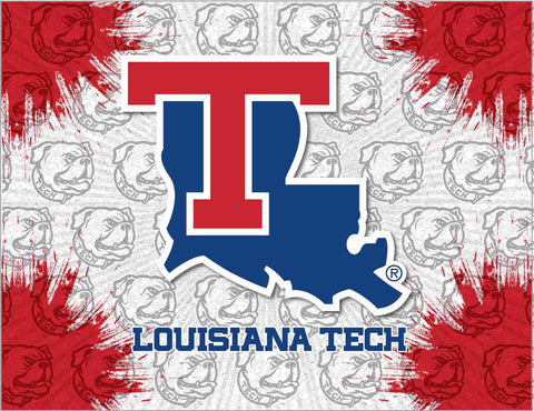 Louisiana Tech Bulldogs HBS Gray Red Wall Canvas Art Picture Print