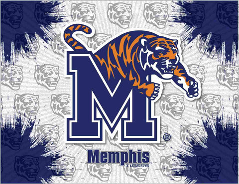 Memphis Tigers HBS Gray Navy Wall Canvas Art Picture Print - Sporting Up