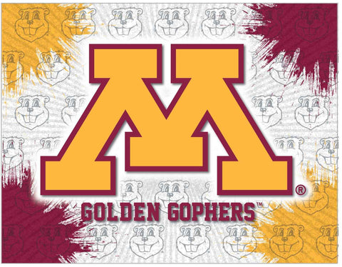Minnesota Golden Gophers HBS Gray Gold Wall Canvas Art Picture Print - Sporting Up