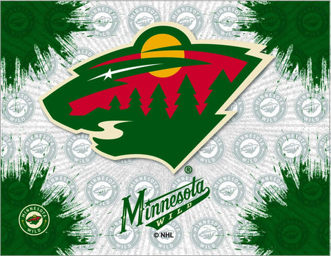 Minnesota Wild HBS Gray Green Hockey Wall Canvas Art Picture Print