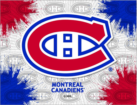 Shop Montreal Canadiens HBS Gray Red Hockey Wall Canvas Art Picture Print - Sporting Up