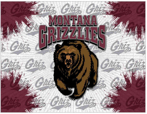 Montana Grizzlies HBS Gray Maroon Wall Canvas Art Picture Print - Sporting Up