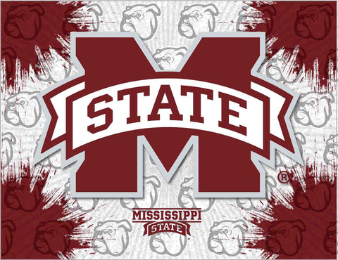 Mississippi State Bulldogs HBS Gray Maroon Wall Canvas Art Picture Print