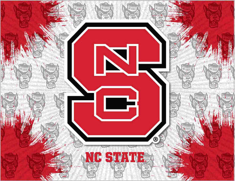 NC State Wolfpack HBS Gray Red Wall Canvas Art Picture Print