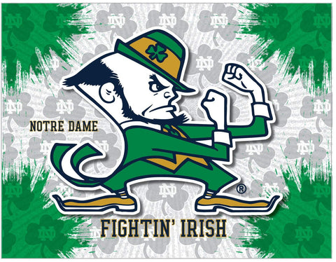 Notre Dame Fighting Irish HBS Leprechaun Wall Canvas Art Picture Print