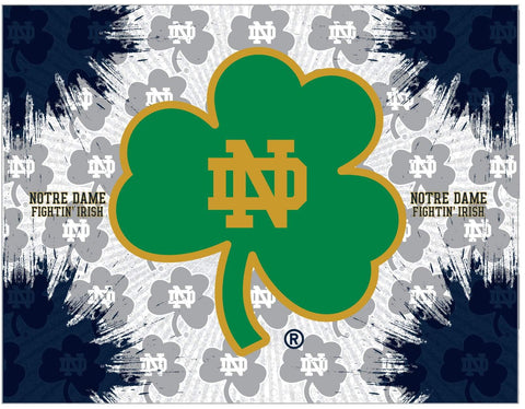 Notre Dame Fighting Irish HBS Shamrock Wall Canvas Art Picture Print