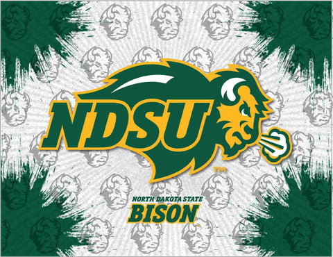 Shop North Dakota State Bison HBS Gray Green Wall Canvas Art Picture Print - Sporting Up