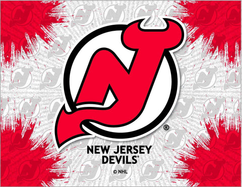 New Jersey Devils HBS Gray Red Hockey Wall Canvas Art Picture Print