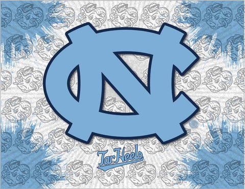 North Carolina Tar Heels HBS Gray Blue Wall Canvas Art Picture Print
