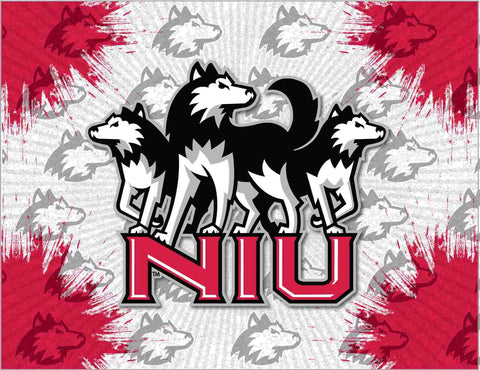 Northern Illinois Huskies HBS Gray Red Wall Canvas Art Picture Print