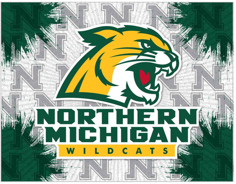 Northern Michigan Wildcats HBS Gray Green Wall Canvas Art Picture Print