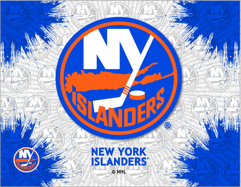 New York Islanders HBS Gray Blue Hockey Wall Canvas Art Picture Print
