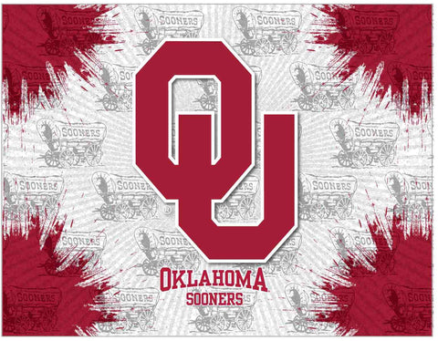 Oklahoma Sooners HBS Gray Red Wall Canvas Art Picture Print - Sporting Up