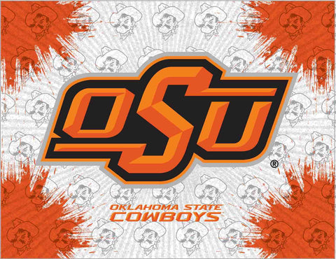 Oklahoma State Cowboys HBS Gray Orange Wall Canvas Art Picture Print