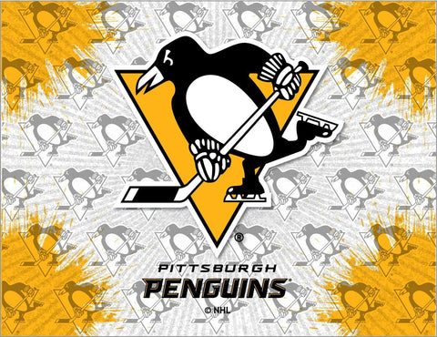 Pittsburgh Penguins HBS Gray Gold Hockey Wall Canvas Art Picture Print - Sporting Up