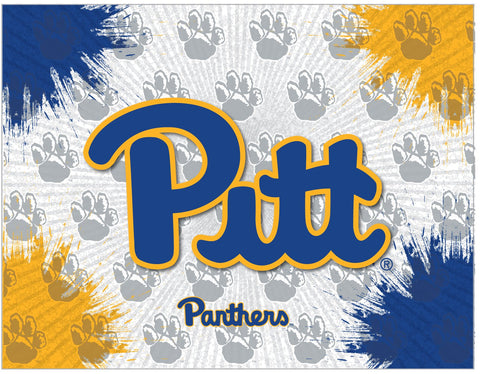 Pittsburgh Panthers HBS Gray Gold Wall Canvas Art Picture Print