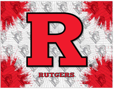 Rutgers Scarlet Knights HBS Gray Red Wall Canvas Art Picture Print