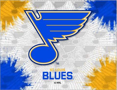St. Louis Blues HBS Gray Navy Hockey Wall Canvas Art Picture Print